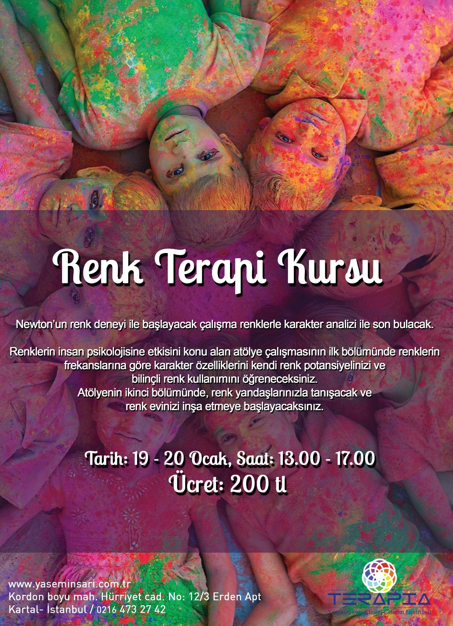 renk terapi kursu afiş