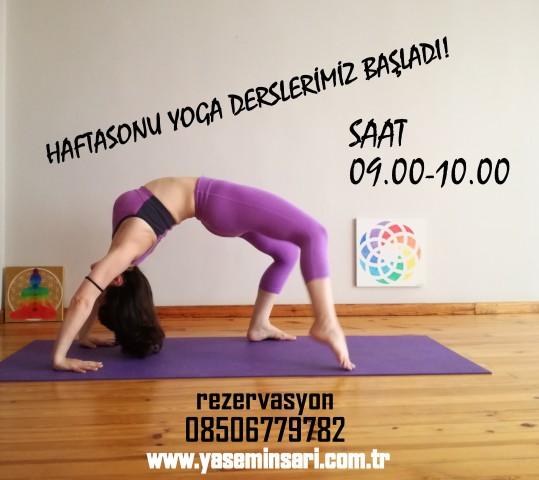 Hafta sonu yoga sınıfı açıldı!